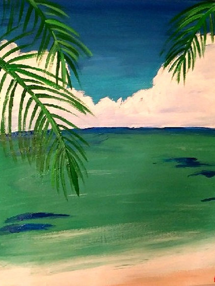 "6:30 Thursday, April 29 ""Tropical Daydream"" Paint Night"