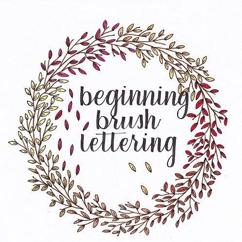 Sat 11/5 Brush Lettering for Beginners Workshop