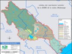 Limites des sous-bassins versants de la ZGIRE de la rivière Makinongé