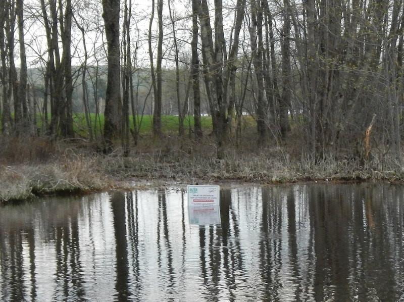 Pancarte explicative - rivière Maskinongé