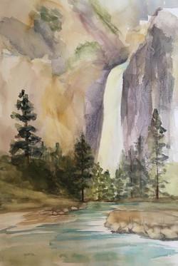 Lower Falls View, Yosemite Falls, Waterc