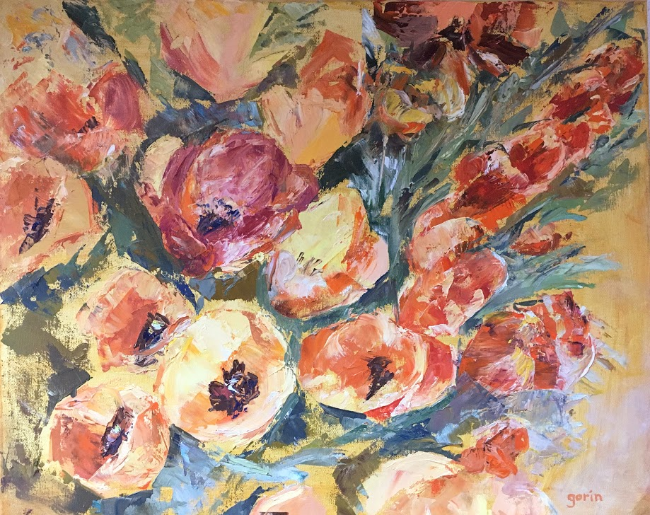 Icelandic Poppies, Oil, 2019