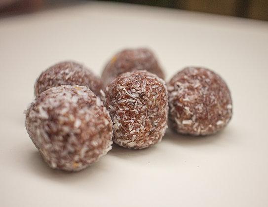Energy Balls Chocolat Noir - indice glycémique faible, vegan et sans gluten
