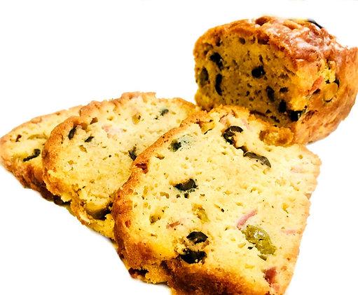 Cake salé jambon olive gourmand