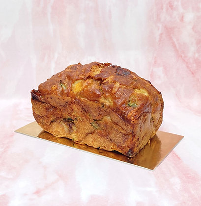 cake aperitif salé gâteau courgette poivron délicieux