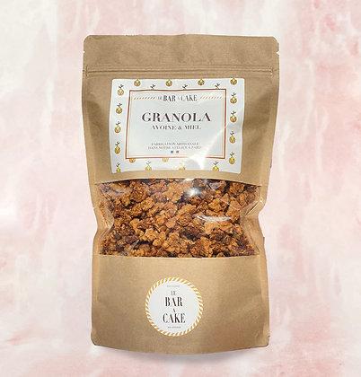 granola avoine miel petit déjeuner délicieux goûter yaourt gourmand sans gluten