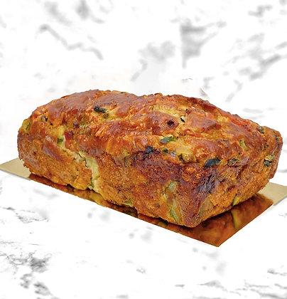 cake courgette poivron apéritif gâteau salé déjeuner délicieux