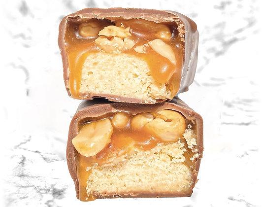 barre gourmande chocolat au lait cacahuètes réduit en sucre