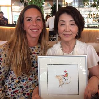 Rencontre avec Monsieur et Madame  Yoshida à Longchamp