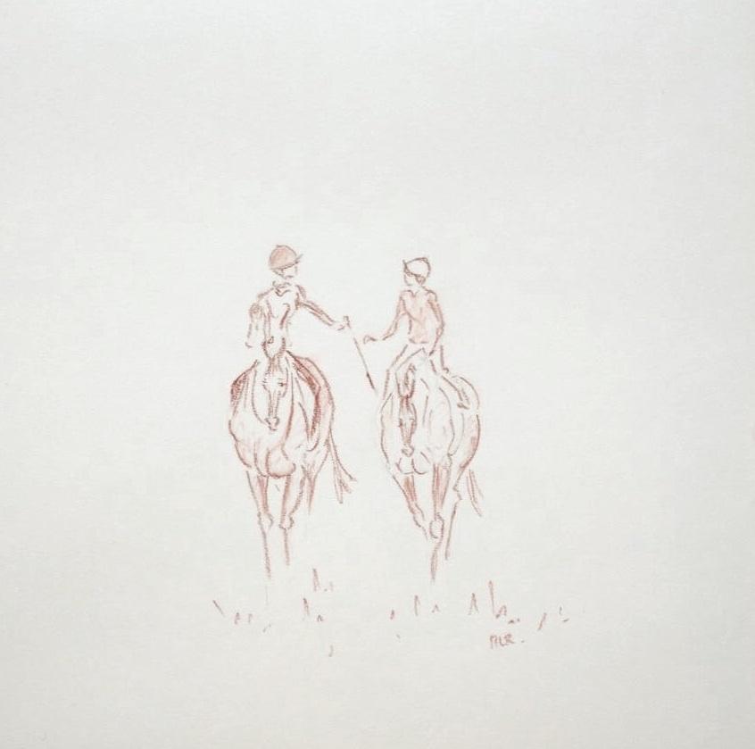 Conversation à cheval