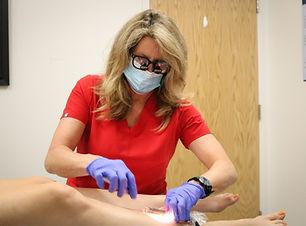 Karin Auger PA-C Spider Vein Treatments.
