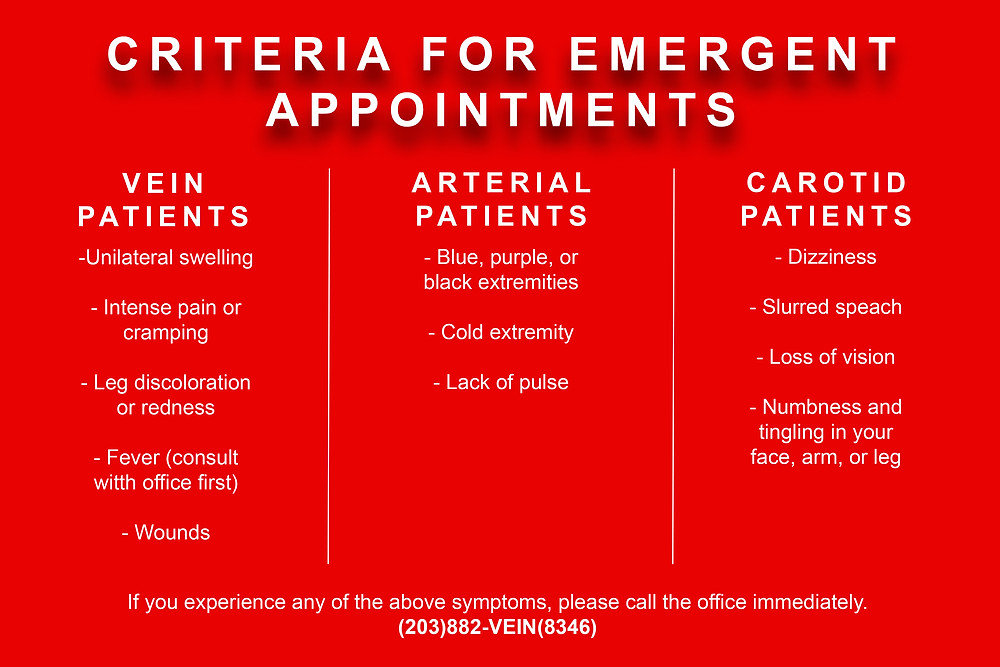 Criteria for Emergent Appointments