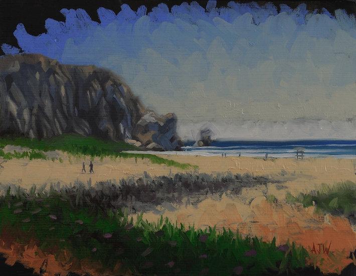 """Morro Bay Study (1)"". By Adam Wexelblatt. Oil on Panel. 9.5""x12"""