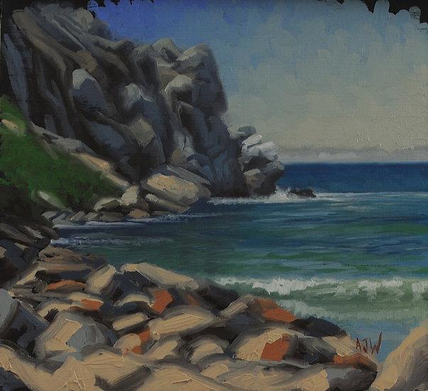 """Morro Bay Study (2)"". Oil on Panel. 9""x10"""