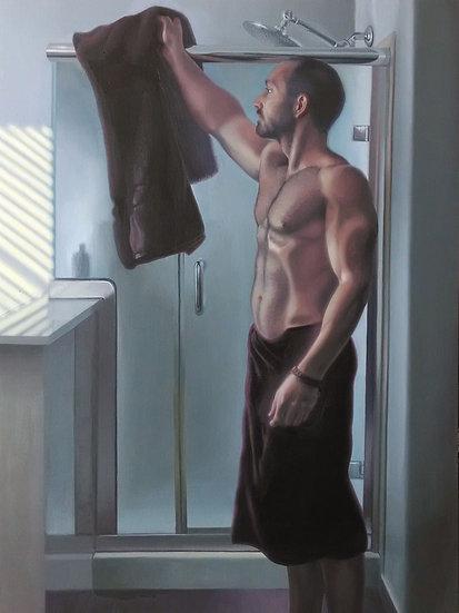 """""""Morning Shower"""". Oil on Linen. 30""""x40"""""""
