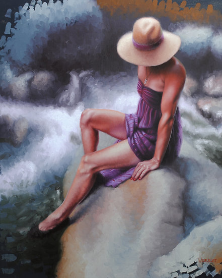 """""""The Esalen Canyon Trail"""". By Adam Wexelblatt. Oil on Panel. 30x24 inches."""