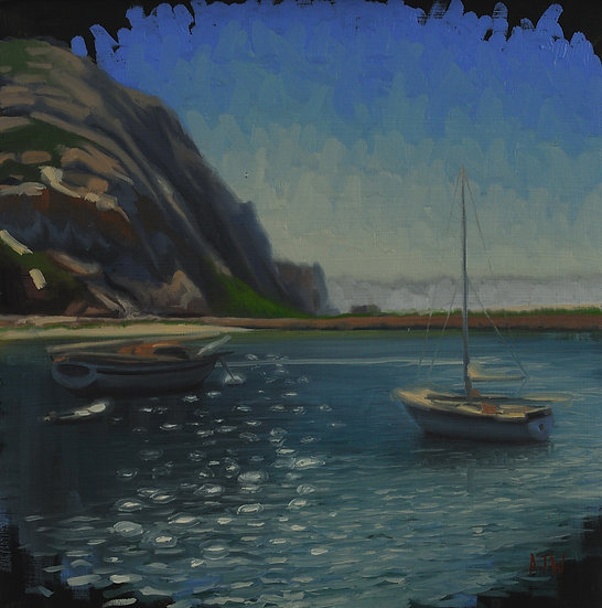 """Morro Bay Study (4)"". By Adam Wexelblatt. Oil on Panel. 12""x12"""