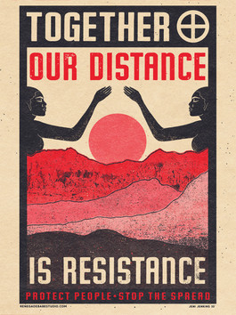 """Together Our Distance is Resistance"" by Jeni Jenkins"