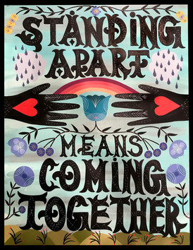 """Standing Apart Means Coming Together"" Bunnie Reiss @bunnieluvrocks"