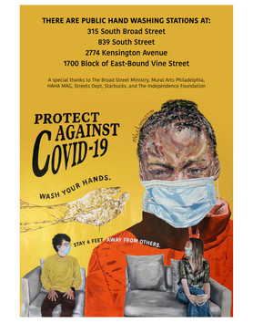 """Protect Against Covid-19"" poster by Nile Livingston"