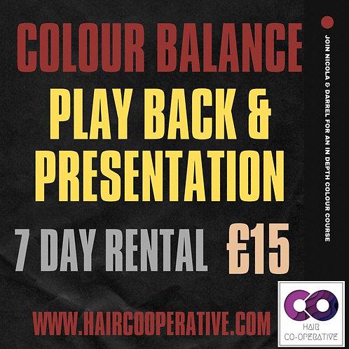 Colour Balance - 4 Quadrants with 1 Goal Recording & Presentation