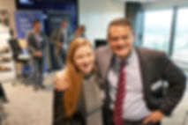 AMBCQ President Shona with Michael Johnson at the East Coast Forum