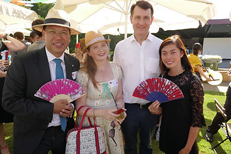 With the Lord Mayor and Student Ambassador Phuc at the BrisAsia Festival Launch