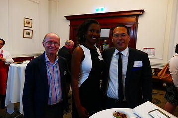 Cr Norm Wyndham, Josephine and Kiong at the Lord Mayor's Scholarship Reception