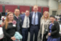 President Shona, SVP Kiong, Mayor of Logan Luke Smith, Bert Van Manen MP and Judi Van Manen and Deputy Mayor of Logan Cherie Dalley