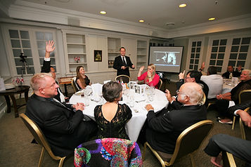 Deputy Mayor of Brisbane Adrian Schrinner speaking at AMBCQ Queen`s Birthday and Sapphire Jubilee Dinner