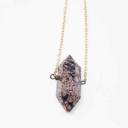 Cherry Blossom Jasper Necklace