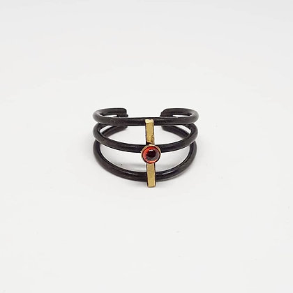 Ribcage Ring w/ Garnet