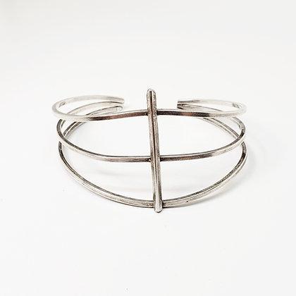 Ribcage Cuff - Sterling Silver