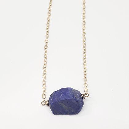 Raw Lapis Lazuli Necklace