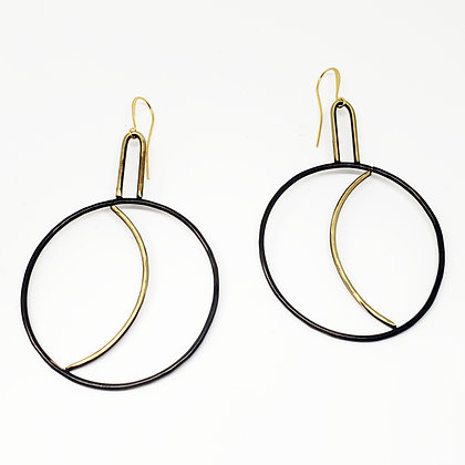 Waxing & Waning Hoops