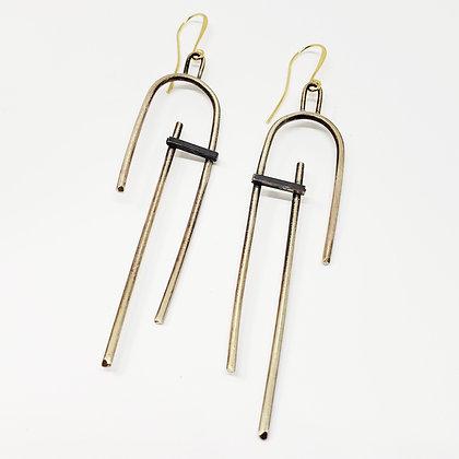 In-Stability Earrings - Brass