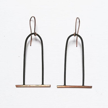 Inverted U Earrings