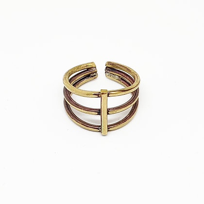 Ribcage Ring - Brass