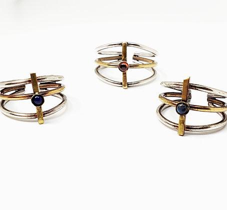 Ribcage Ring w/ Stone