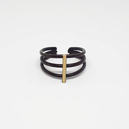 Ribcage Ring - Oxidized Brass