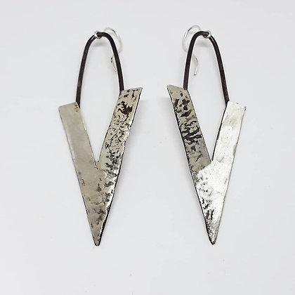 Melting Universe Triangles - Sterling Silver