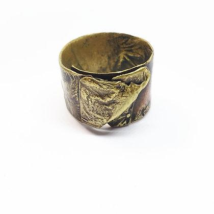 Wrinkled Brass Ring