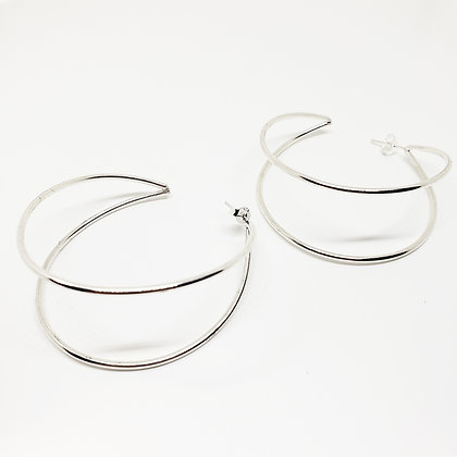 Double Hoops - Sterling Silver