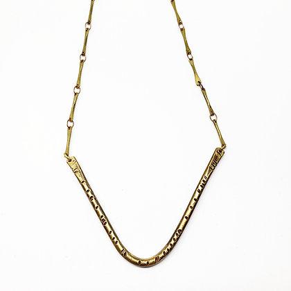 V Hammered Necklace