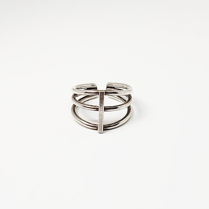 Ribcage Ring - Sterling Silver