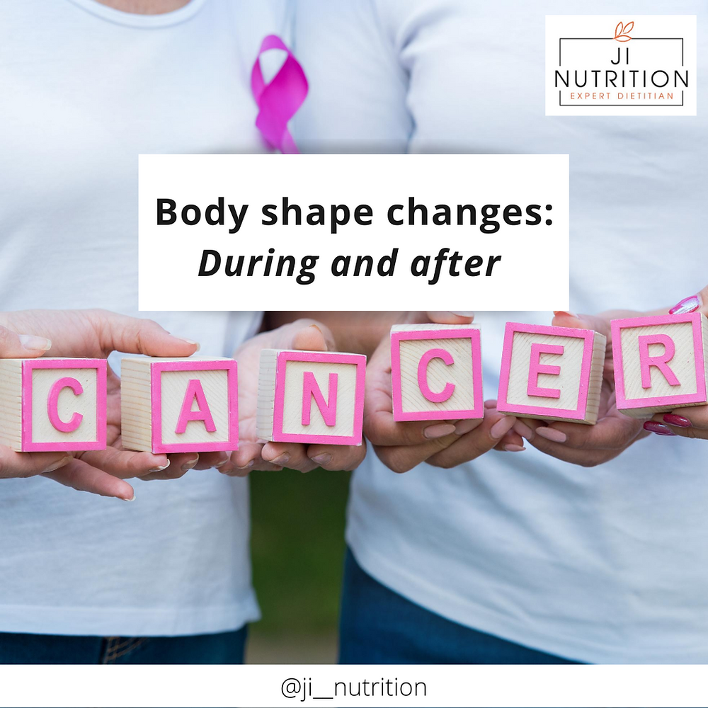 Body shape, cancer weight gain, during and after treatment