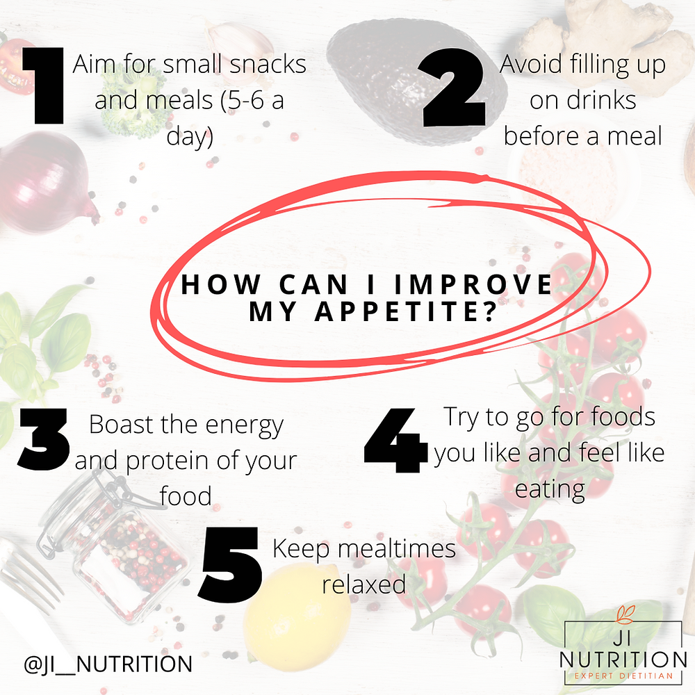 Tips to improve appetite