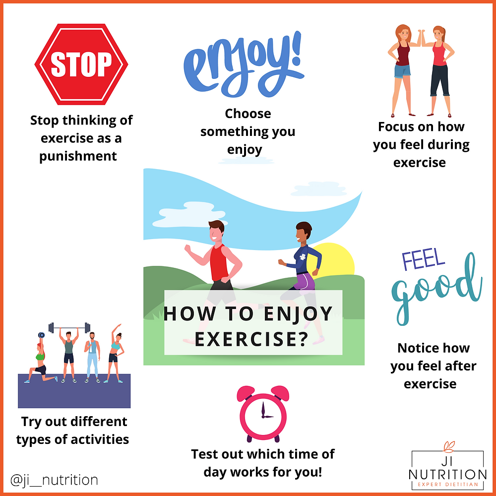how to enjoy exercise