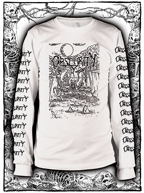 OBSCURITY - WHITE LONG SLEEVE