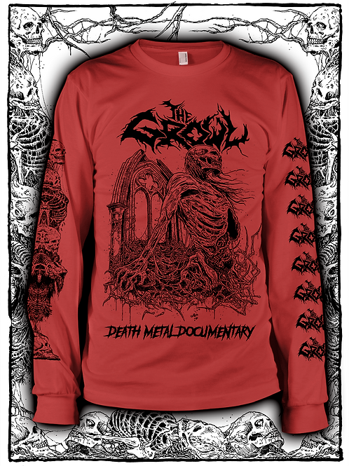 THE GROWL (RED  LONG SLEEVE WITH BLACK INK) NEW design